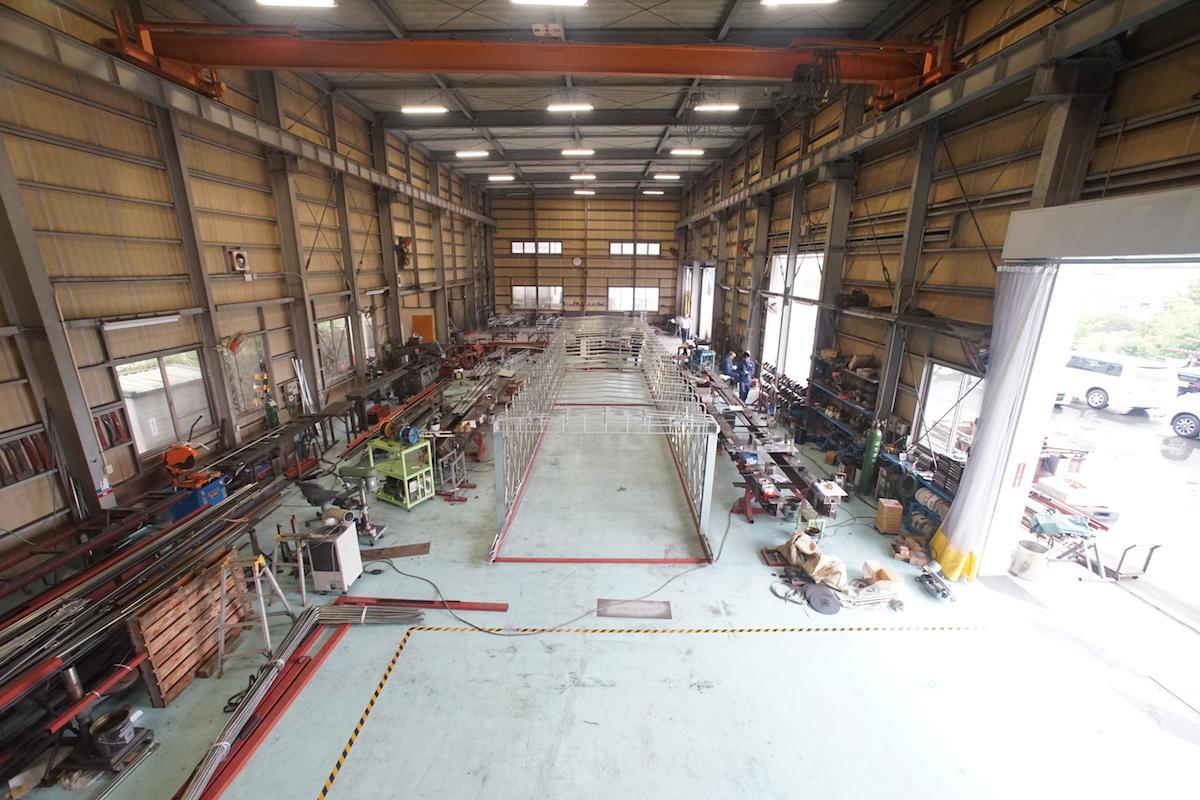 鉄工工場内の様子