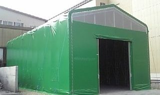 スライド式テント倉庫